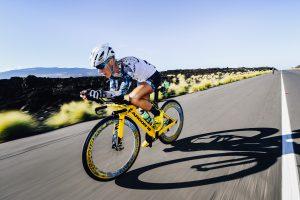 Man in Cycling Triathlon